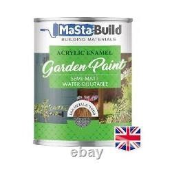 0.7L Outdoor Exterior Wood Metal WHITE Acrylic Enamel Shed Fence Garden Paint