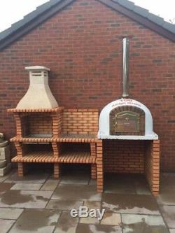 BRICK OUTDOOR WOOD FIRED PIZZA OVEN 1000mm AMIGO OVENS UK MANUFACTURERS