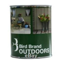 Bird Brand Multi Surface Outdoor Paint SLATE GREY 750ml Satin Acrylic Wood Metal