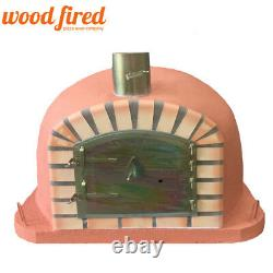 Brick outdoor wood fired Pizza oven 100cm Deluxe extra terracotta orange arch