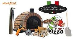 Brick outdoor wood fired Pizza oven 100cm Prestige brick + cast door + pacakage