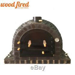 Brick outdoor wood fired Pizza oven 100cm Pro Deluxe Slate