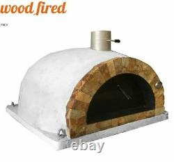 Brick outdoor wood fired Pizza oven 100cm Pro italian rock face