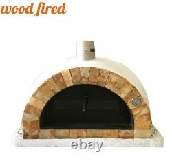 Brick outdoor wood fired Pizza oven 100cm Pro italian rock face package
