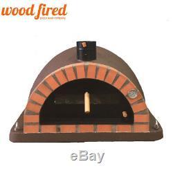Brick outdoor wood fired Pizza oven 100cm brown Pro-Italian orange brick