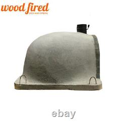 Brick outdoor wood fired Pizza oven 100cm grey Deluxe extra model stone face