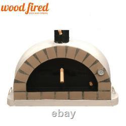 Brick outdoor wood fired Pizza oven 100cm grey Pro-Italian cream brick