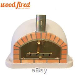 Brick outdoor wood fired Pizza oven 100cm grey premium Italian model