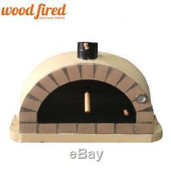 Brick outdoor wood fired Pizza oven 100cm sand Pro-Italian cream brick