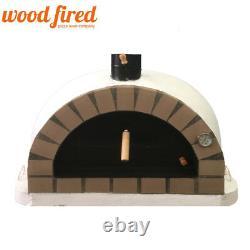 Brick outdoor wood fired Pizza oven 100cm white Pro-Italian cream brick