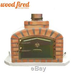 Brick outdoor wood fired Pizza oven 100cm white exclusive model (16)