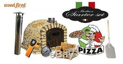 Brick outdoor wood fired Pizza oven 100cm x 100cm Rustic light stone (package)