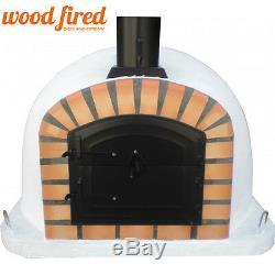 Brick outdoor wood fired Pizza oven 100cm x 100cm maxi deluxe, black door