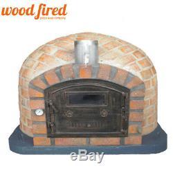 Brick outdoor wood fired Pizza oven 110cm Rustic brick with cast door