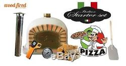 Brick outdoor wood fired Pizza oven 110cm grey Deluxe model (package deal)