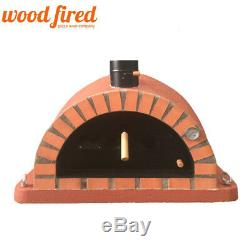 Brick outdoor wood fired Pizza oven 120cm brick red Pro-Italian orange brick
