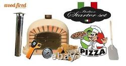 Brick outdoor wood fired Pizza oven 120cm sand Deluxe model (package deal)
