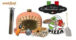 Brick outdoor wood fired Pizza oven 120cm terracotta Deluxe model (package deal)