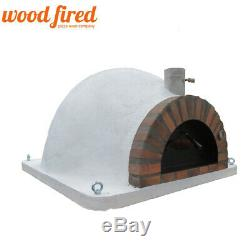 Brick outdoor wood fired Pizza oven 140cm Pro-Italian clay dome orange brick