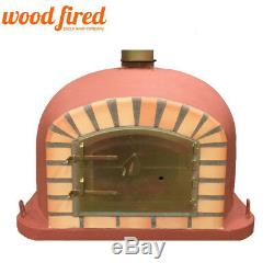 Brick outdoor wood fired Pizza oven 70cm brick red Deluxe model