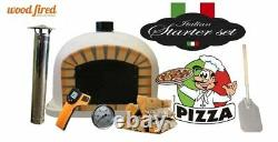 Brick outdoor wood fired Pizza oven 70cm white Deluxe model (package deal)
