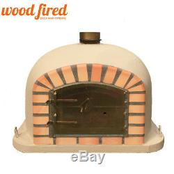 Brick outdoor wood fired Pizza oven 80cm Sand Deluxe model