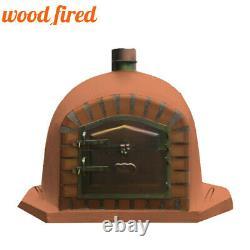 Brick outdoor wood fired Pizza oven 80cm brick red corner Deluxe model