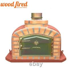 Brick outdoor wood fired Pizza oven 80cm brick red exclusive model