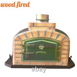 Brick outdoor wood fired Pizza oven 80cm brown exclusive model