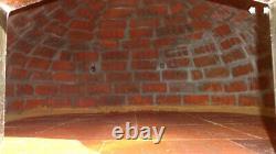Brick outdoor wood fired Pizza oven 80cm grey Deluxe black door (package)