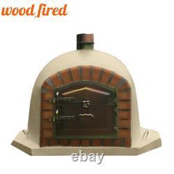 Brick outdoor wood fired Pizza oven 80cm sand corner Deluxe model