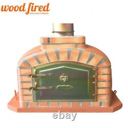 Brick outdoor wood fired Pizza oven 80cm terracotta exclusive model
