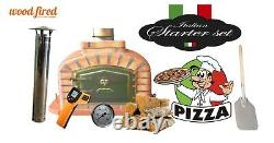 Brick outdoor wood fired Pizza oven 80cm terracotta exclusive model package