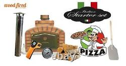Brick outdoor wood fired Pizza oven 80cm white exclusive model package deal