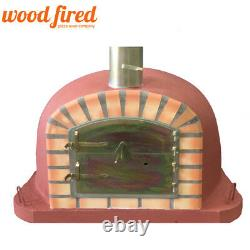 Brick outdoor wood fired Pizza oven 80cm x 80cm Deluxe extra model brick red