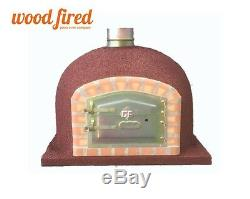 Brick outdoor wood fired Pizza oven 80cm x 80cm supreme model chimney mount
