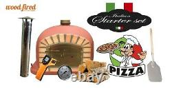 Brick outdoor wood fired Pizza oven 90cm Brick Red Deluxe model (package deal)