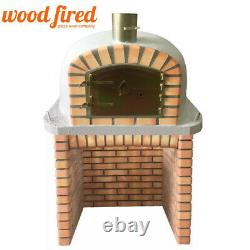 Brick outdoor wood fired Pizza oven 90cm Deluxe extra model with matching stand