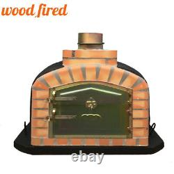 Brick outdoor wood fired Pizza oven 90cm black exclusive model