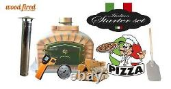Brick outdoor wood fired Pizza oven 90cm grey exclusive model package deal