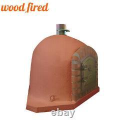Brick outdoor wood fired Pizza oven 90cm terracotta corner Deluxe model
