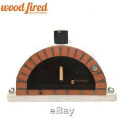 Brick outdoor wood fired Pizza oven 90cm white Pro-Italian orange brick