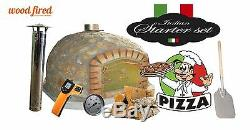 Brick outdoor wood fired Pizza oven 90cm x 90cm Deluxe-stone model package