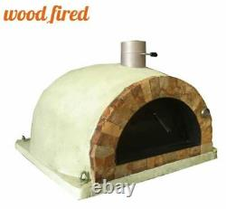 Brick outdoor wood fired Pizza oven sand 100cm Pro italian rock face package