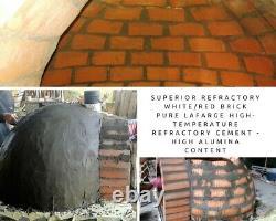 Brick outdoor wood fired Pizza oven terracotta 100cm Pro italian rock face