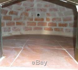 Brick wood outdoor fired Bread oven 90cm white Deluxe model Wooden- BBQ-Quality