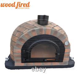 Clay outdoor wood fired Pizza oven 140cm Prestige rustico brick cast iron door