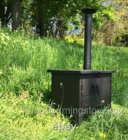 Cooking Wood Burning Stove Oven Chimney Rain Cap Garden Outdoor Mini Prity