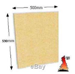 FIREBOARD Firebrick Fire brick Plain Vermiculite Board Large 500mm x 590mm