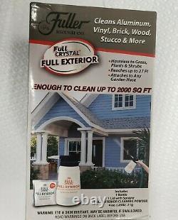 Fuller Brush Full Crystal Exterior Kit Cleans Aluminum Vinyl Brick Wood Stucco